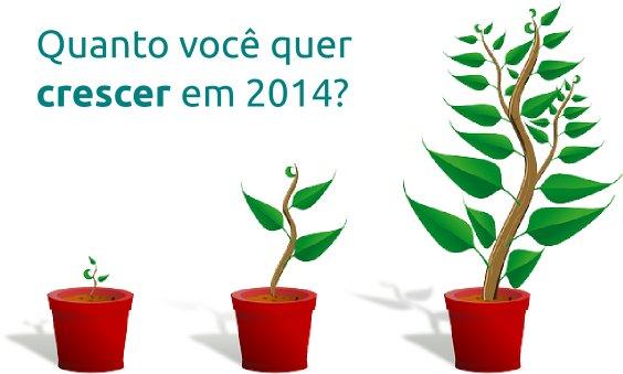 Quanto você quer crescer em 2014?